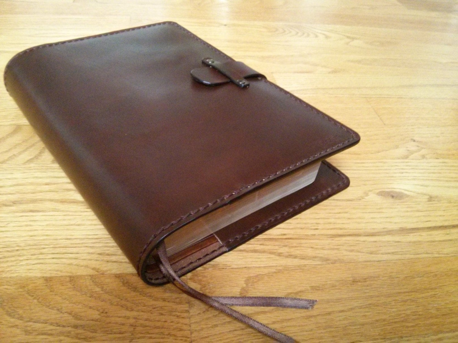 Handmade Leather Book Cover ~ Special listing for scott handmade custom sized leather bible