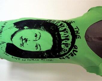 """Punk Queen -T-shirt Dress - Sex Pistols -God Save the Queen- Night Dress- Blue or Green XSm 32"""""""