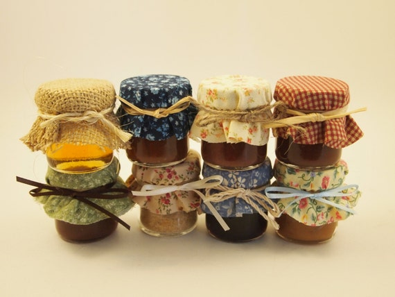 50 2 oz Jar Wedding Favors filled with honey, apple butter, trail mix, or hot chocolate