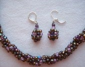 Purple Contessa Necklace and Earring Set