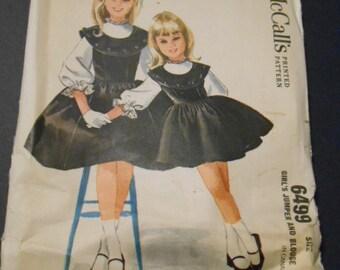 McCalls 6499  size 8 girls