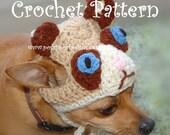 Instant Download Crochet Pattern  - The Grumpy Cat Dog Hat-  Grumpy Cat Dog  Beanie