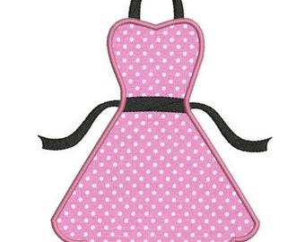 Instant download Apron kitchen embroidery design applique.