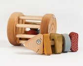 Wooden Rattle set eco-friendly baby toy