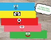 Yo Gabba Gabba - Water bottle labels - PRINTABLE only (Digital Download)