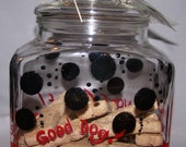 Doggie Treat Cookie Jar hand painted