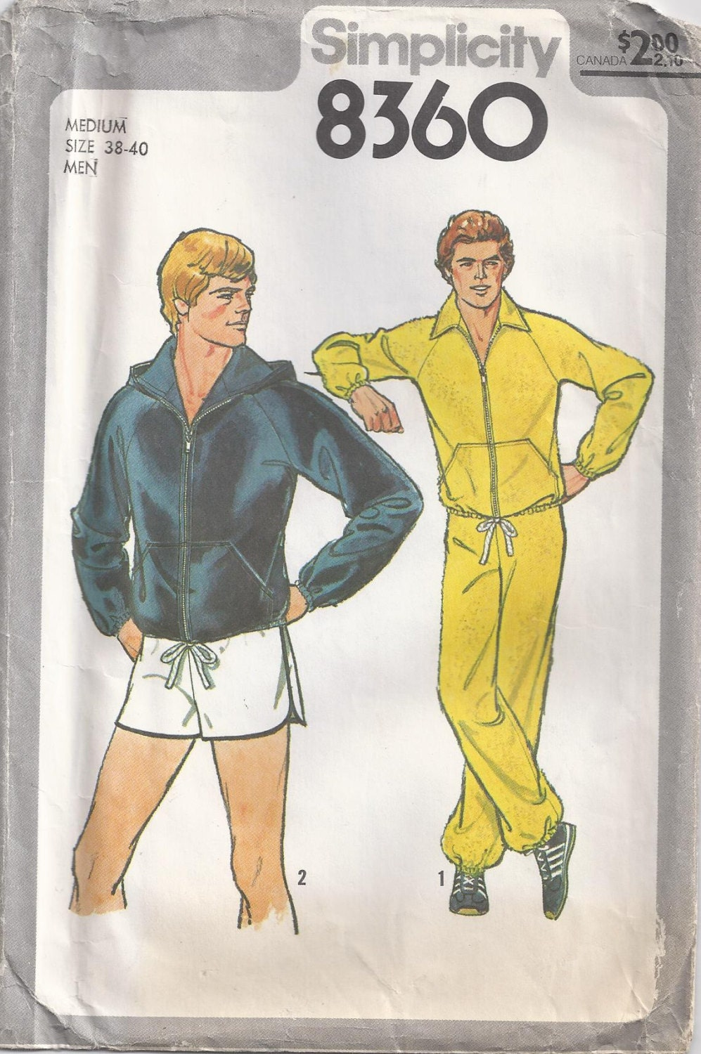 mens workout clothes vintage sewing pattern 1977 simplicity