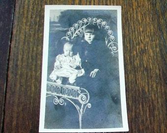 Vintage Photograph Postcard Victorian Children RPPC
