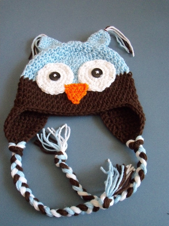 Crochet Owl Hat Baby Boy Owl Hat Toddler Owl Hat Made by ...