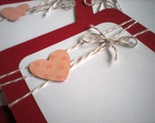 Valentines Day Cards set of 6 with Envelopes-Pink Hearts and Be My Valentine