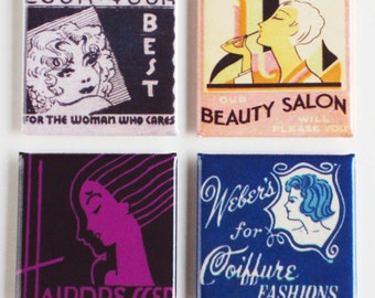 Beauty Salon Fridge Magnet Set
