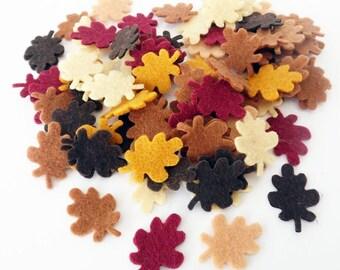 Felt leaves, felt shapes, felt die cut, felt crafts, confetti, appliques