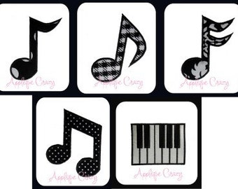 Music Applique designs
