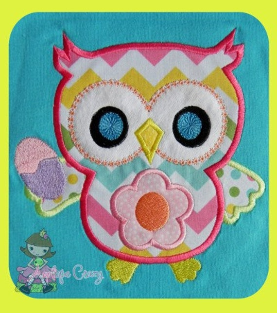 Easter Owl  Applique  design