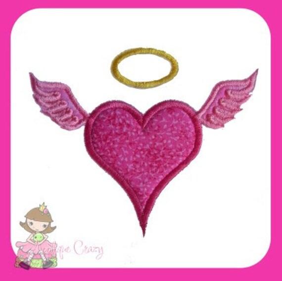 Angel Heart Applique design