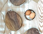 Reserved for Dawn - Egg Shaped Mini Bread Board Set of 6 - Walnut
