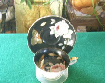 Hand Painted Tea Cup and Saucer