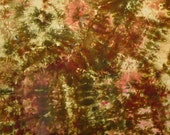 Ice Dyed Fabric, Hand Dyed Quilt Cotton, Lost in the Woods, Half Yard (MH) #66