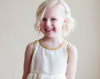 The Angelica Dress: Chiffon flower girl dress, bridesmaid dress.