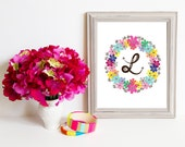 Though Very Humble : Custom Fiesta Wreath Monogram 8x10 Print