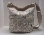 Linen cotton bucket bag