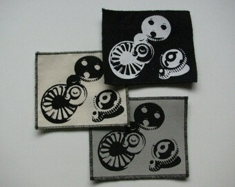 One gears canvas patch in any color you choose....FREE SHIPPING USA
