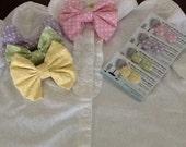 Girls Pastel Polka Dot Bow Sets
