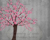 SWANKY PRINTS ORIGINAL 5ft x 5ft Vinyl Photography Backdrop / Cherry Tree Grunge