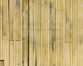NEW ITEM 5ft x 5ft Vinyl Photography Backdrop / Yellow Barn Siding
