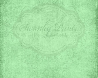 6ft x 6ft Vinyl Photography Backdrop / Bright  Green  Grunge Texture / Custom Photo Prop