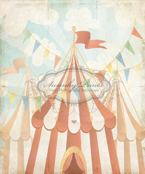 6ft X 7ft Vintage Circus Vinyl Photography Backdrop