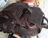 Sale sale vintage luggage ... QUEROS Vintage leather BACKPACK knapsack BRIEFCASE Bag  ...