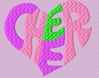 Cheer Heart Embroidery Design
