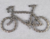 Bicycle made from recycled bike chain.-you know you want one.