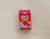 Dollhouse Miniature Valentine's Day Box of 'Sweethearts' Tart Message Heart Candies