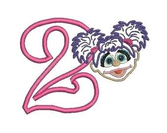 Abby Cadabby Applique, Sesame Street Applique, Abby Applique, Applique Embroidery (163) Instant Download