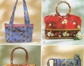 2004 Butterick UNCUT Handbag and Tote Pattern for Prequilted Fabric