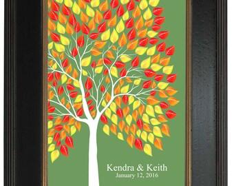 SIGNATURE GUEST TREE, Unique Wedding Guest Book, Sugar Vine Art, An Interactive Art Print - 183 guest sign in 20x30 num.125