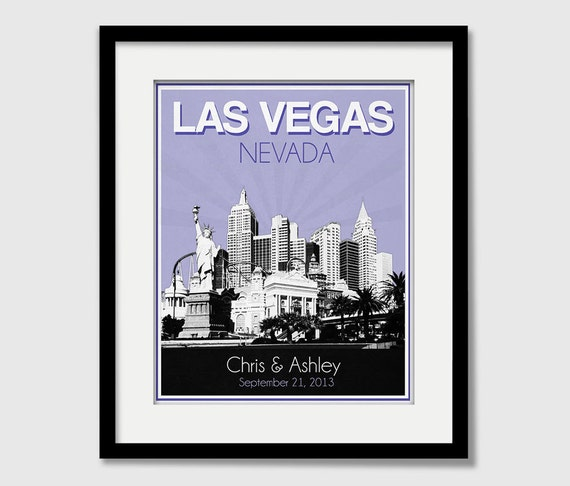 Las Vegas Wedding Gifts: Las Vegas Nevada Wedding Gift Personalized Anniversary