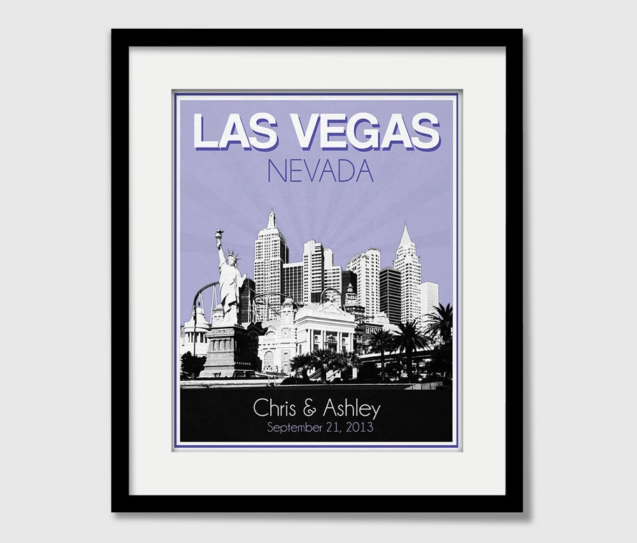 Las Vegas Nevada Wedding Gift Personalized Anniversary