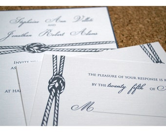 Nautical Knot Sample Wedding Invitation