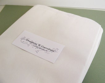"""25 Size 6-3/4 X 9-1/4""""  Gourmet Bags Glassine Lined Paper for decorate, stamp, gift bags, envelopes, party favors, and many more"""