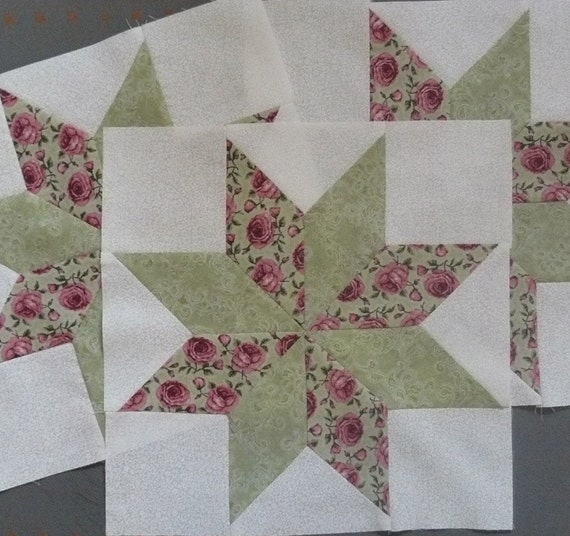 Quilt Patterns Using 12 Inch Squares : Quilt Blocks Lemoyne Stars 12 inch