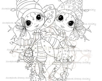 INSTANT DOWNLOAD Digital Digi Stamps Big Eye Big Head Dolls Digi  My Besties Little Besties Buglets By Sherri Baldy