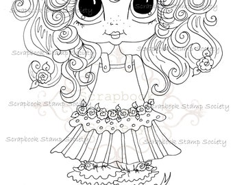 INSTANT DOWNLOAD Digital Digi Stamps Big Eye Big Head Dolls Digi  My Besties IMG725 By Sherri Baldy