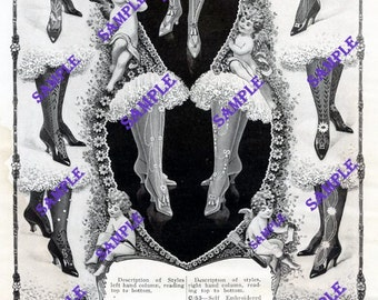 Digital Download-1909 Ad Onyx Hosiery-Gorgeous graphics