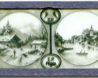 Vintage Ernst Plank Magic Lantern Slide-Alpine or European Scenics