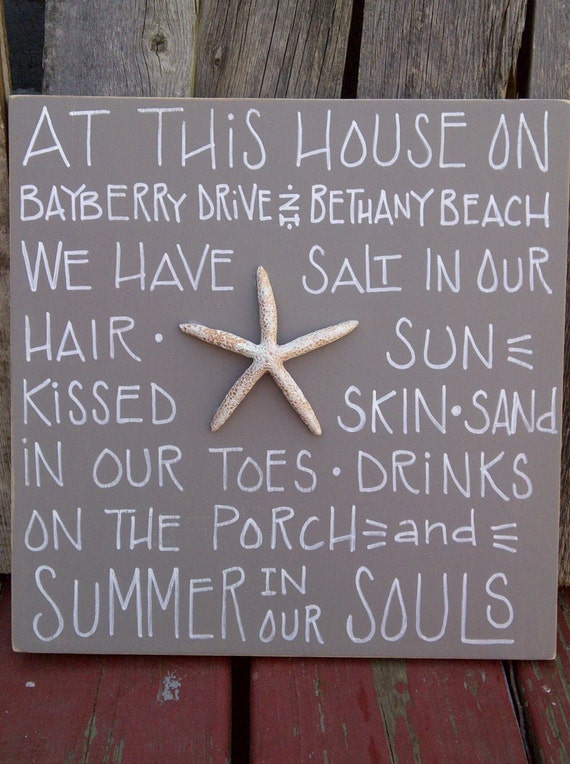 Items similar to personalized beach house sign on etsy for Custom beach house