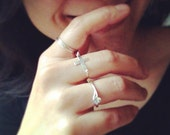 Handmade Sideways Cross Ring - Handmade By CoCo - Everyday Jewelry - Fits Your Size