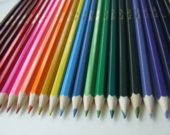 24 Personalised Colouring Pencils - Custom Printing with name of your choice.